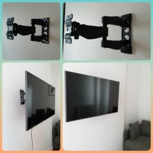 Photo de galerie - Installation support TV mural pour fixation TV