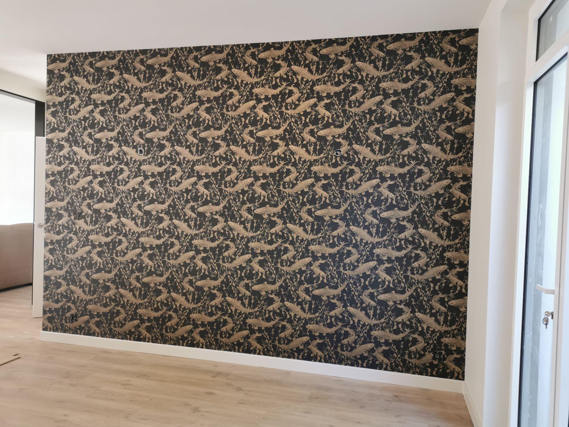 Photo réalisation - Peinture - Tapisserie - Maane - Challans (Centre) : Pose de papier peint a raccord ( carpe)
