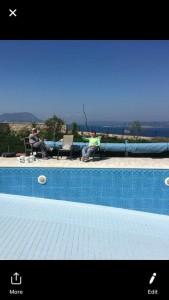 Photo de galerie - Pose de carrelage piscine