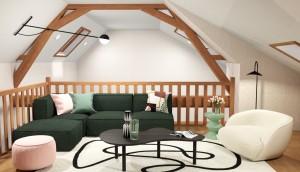 Photo de galerie - Projet Valérie - Vue 3D - Rénovation partielle d'une maison, aménagement de la mezzanine